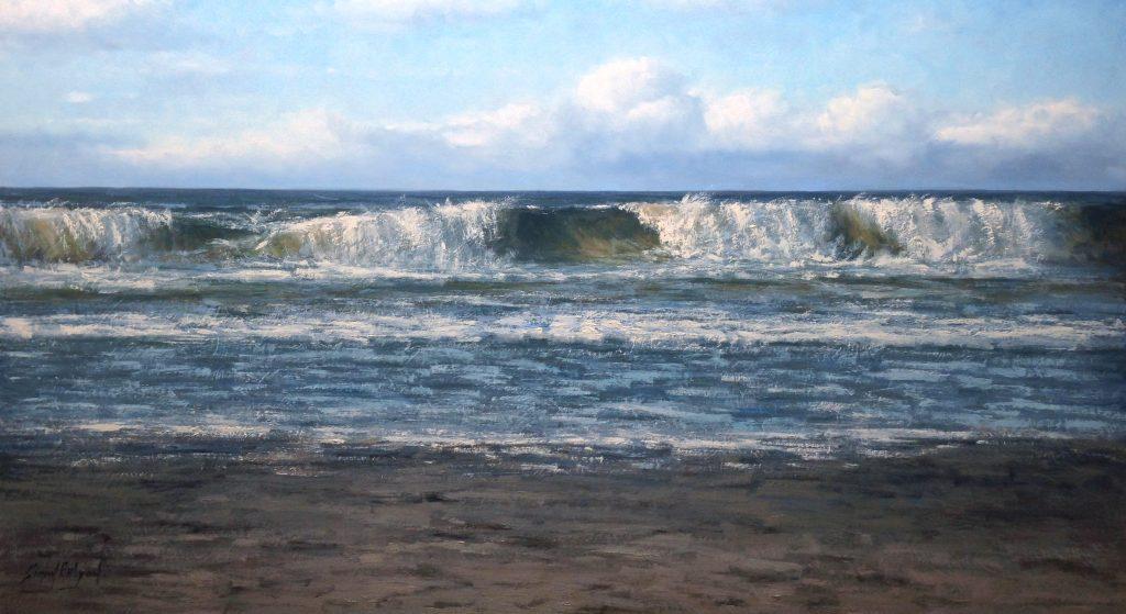 Kunstschilder Simon Balyon zee strand 100 x 170 cm