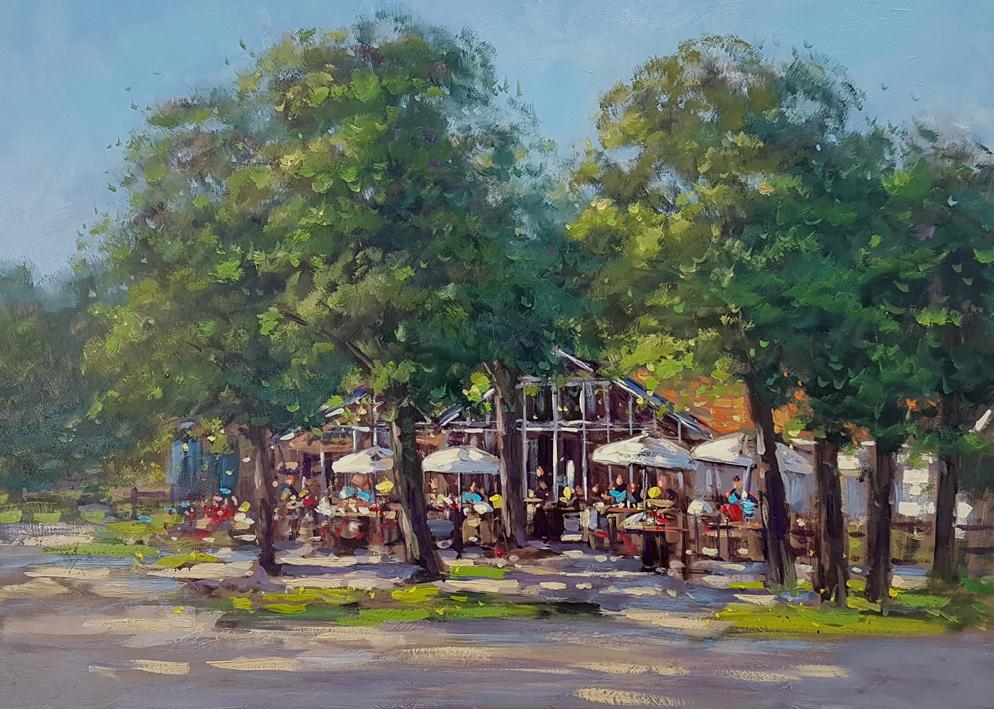 Meijendel Kunstschilder Simon Balyon 50x70cm 08-2016