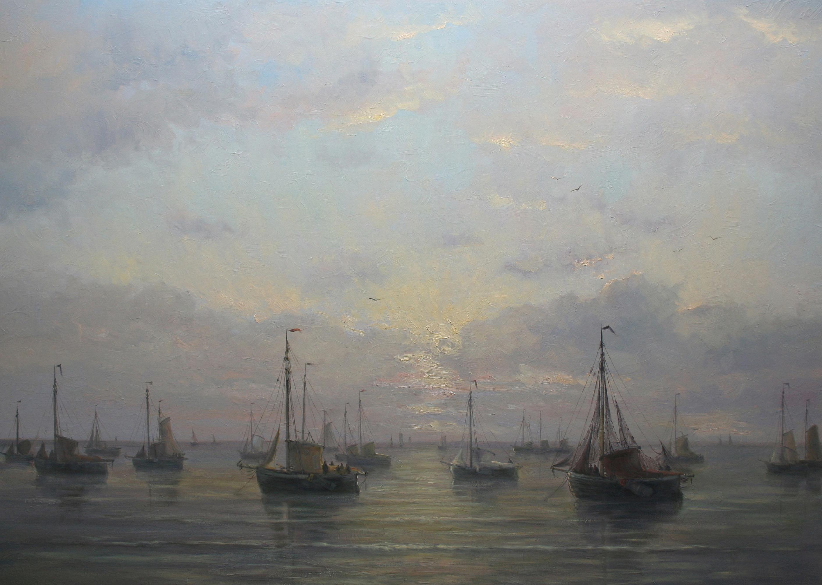 Schilderij Simon Balyon naar Mesdag 100x140 cm