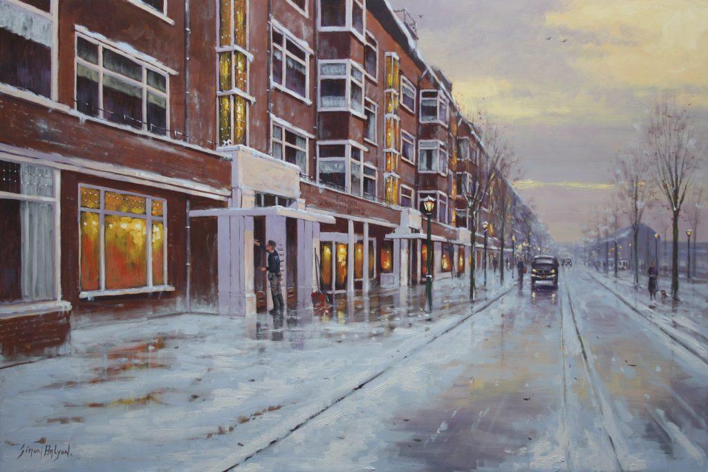 schilderij voor schoonmaakbedrijf Arend Balijon 60x90