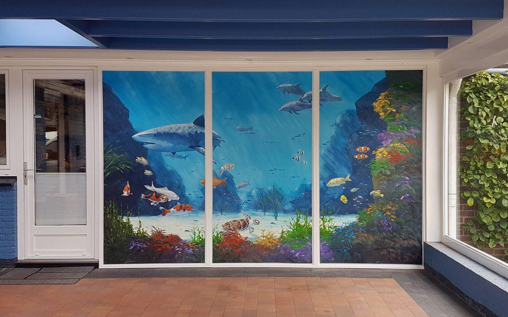 Aquarium Muurschildering 2,5x4 meter