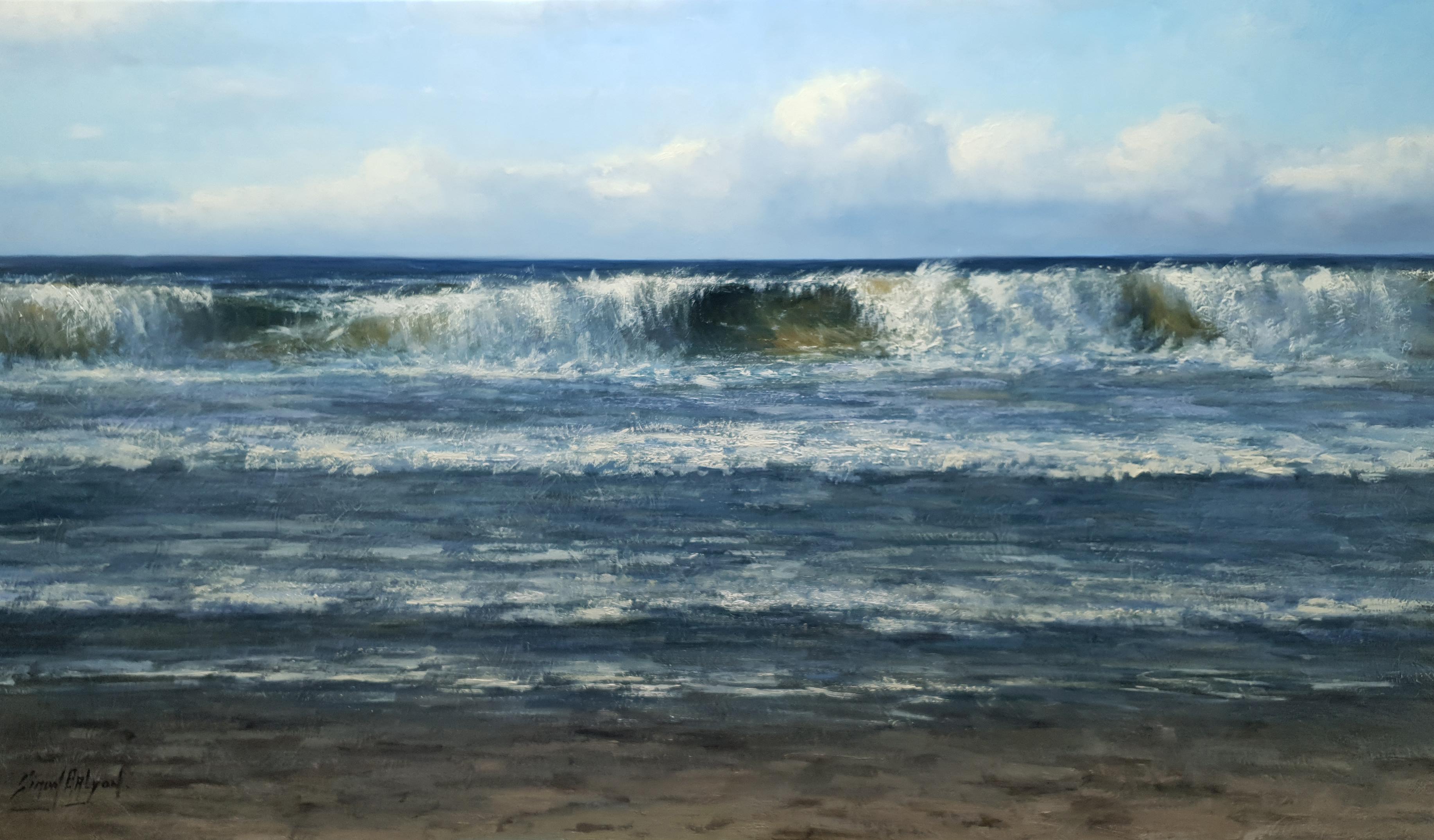 De zee 100x170cm kunstschilder Simon Balyon schilderij