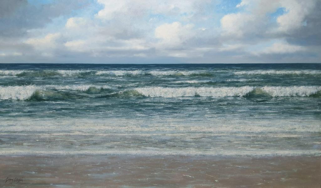 De Noordzee 100x170 cm Simon Balyon Zeegezicht