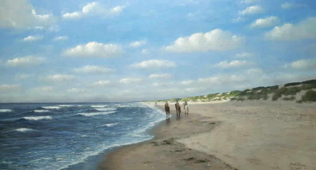 Zee strand en duinen 100x180 cm simon balyon