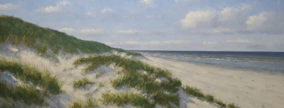 Een nieuwe mooie dag Duinen-strand-zee-kust-schilderij-simon-balyon-100x170cm