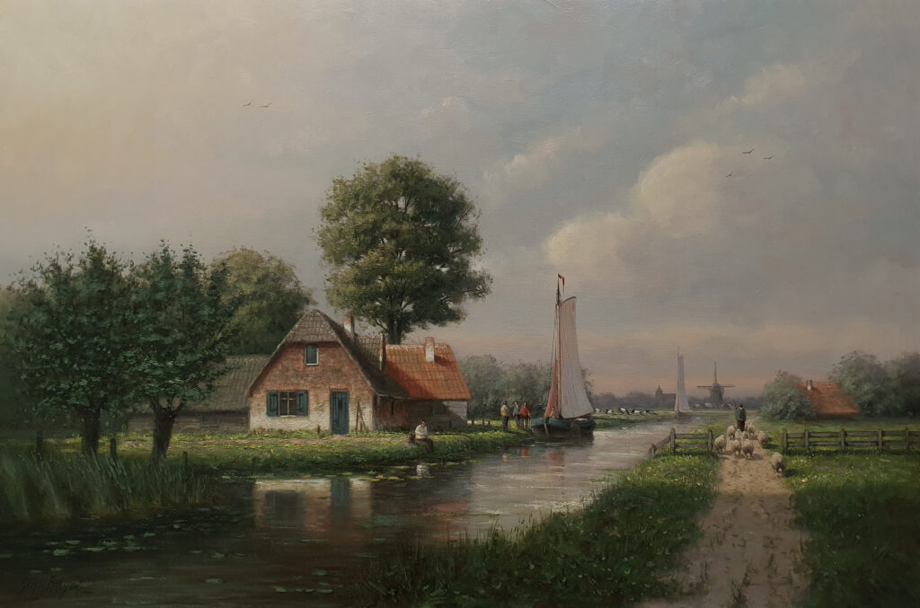 Zomerlandschap schilderij kunstschilder Simon Balyon 60x90 cm