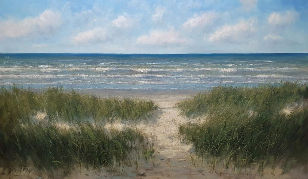 Schilderij door de duinen Simon Balyon 100x170 cm