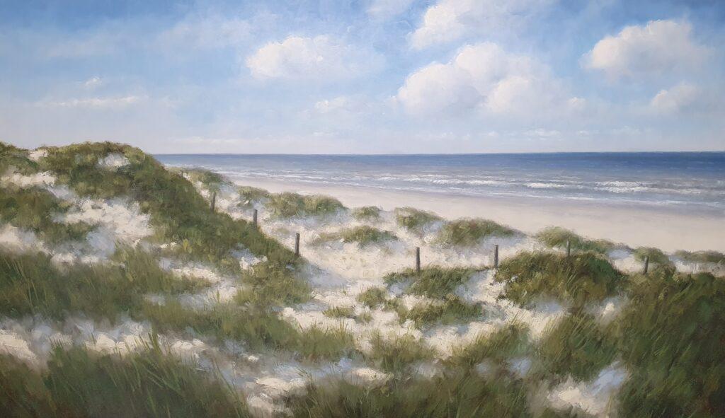 Hollandse duinen zon strand zee duinen schilderij