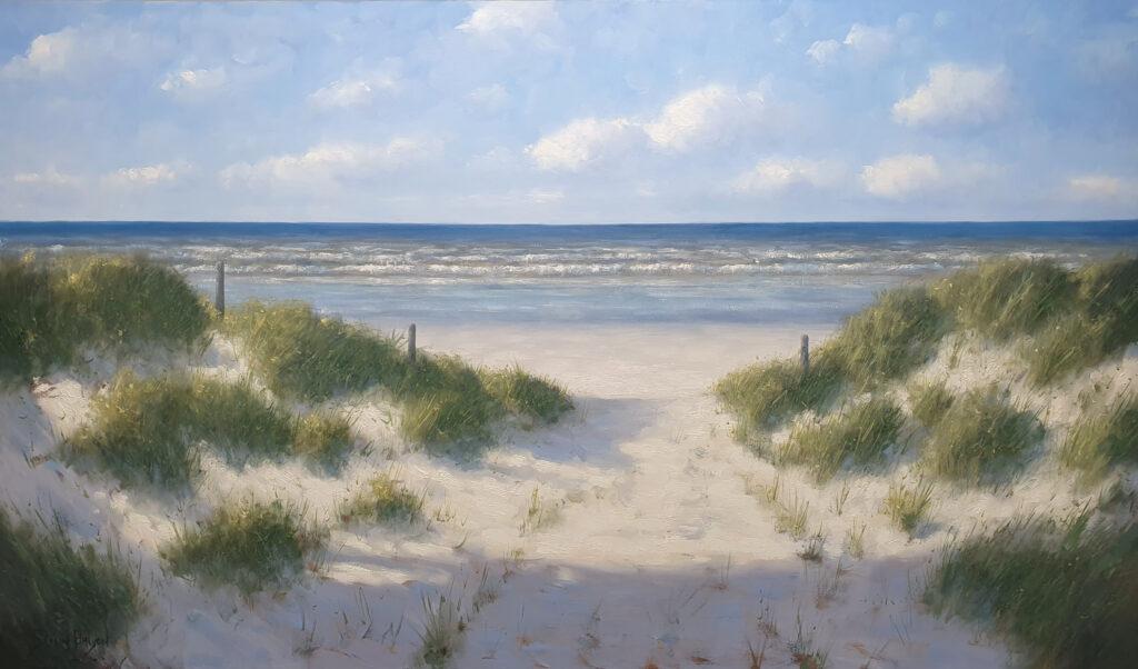 Simon Balyon Door de duinen zee strand 100x170 schilderij