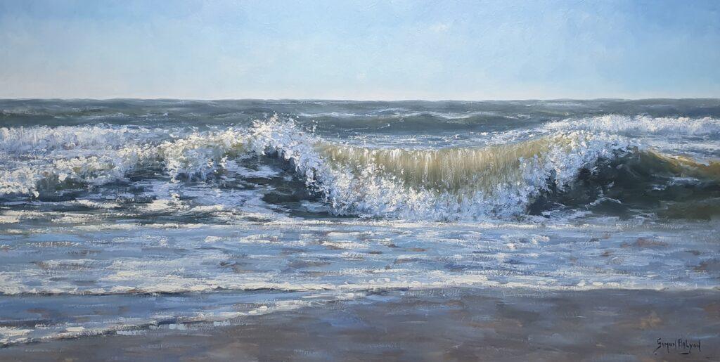Sonne-Meer-Strand-Dunen-Malerei-Simon-Balyon-Sun-Sea-Beach-Dunes-painting-Simon-Balyonzon-zee-strand-duinen-kust-Scheveningen-Katwijk-Noordwijk-Egmond-aan-Zee-schilderij-Simon-Balyon