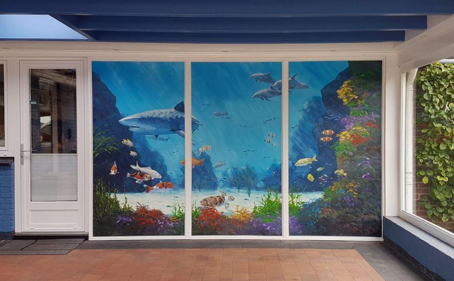 Sonne-Meer-Strand-Dunen-Malerei-Sun-Sea-Beach-Dunes-painting-Simon-Balyon-duinen-kust-Scheveningen-Katwijk-Noordwijk-Egmon Zeegezicht schilderij Simon Balyon Noordzee