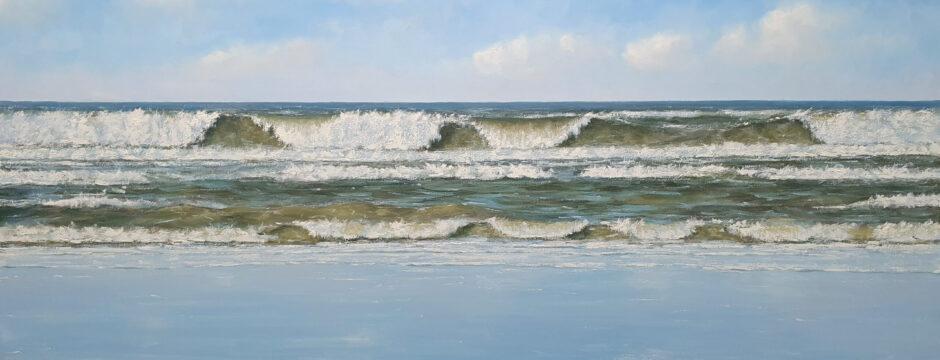 zeeland scheveningen katwijk noordwijk kust zon zee strand duinen schilderij simon balyon kunstschilder